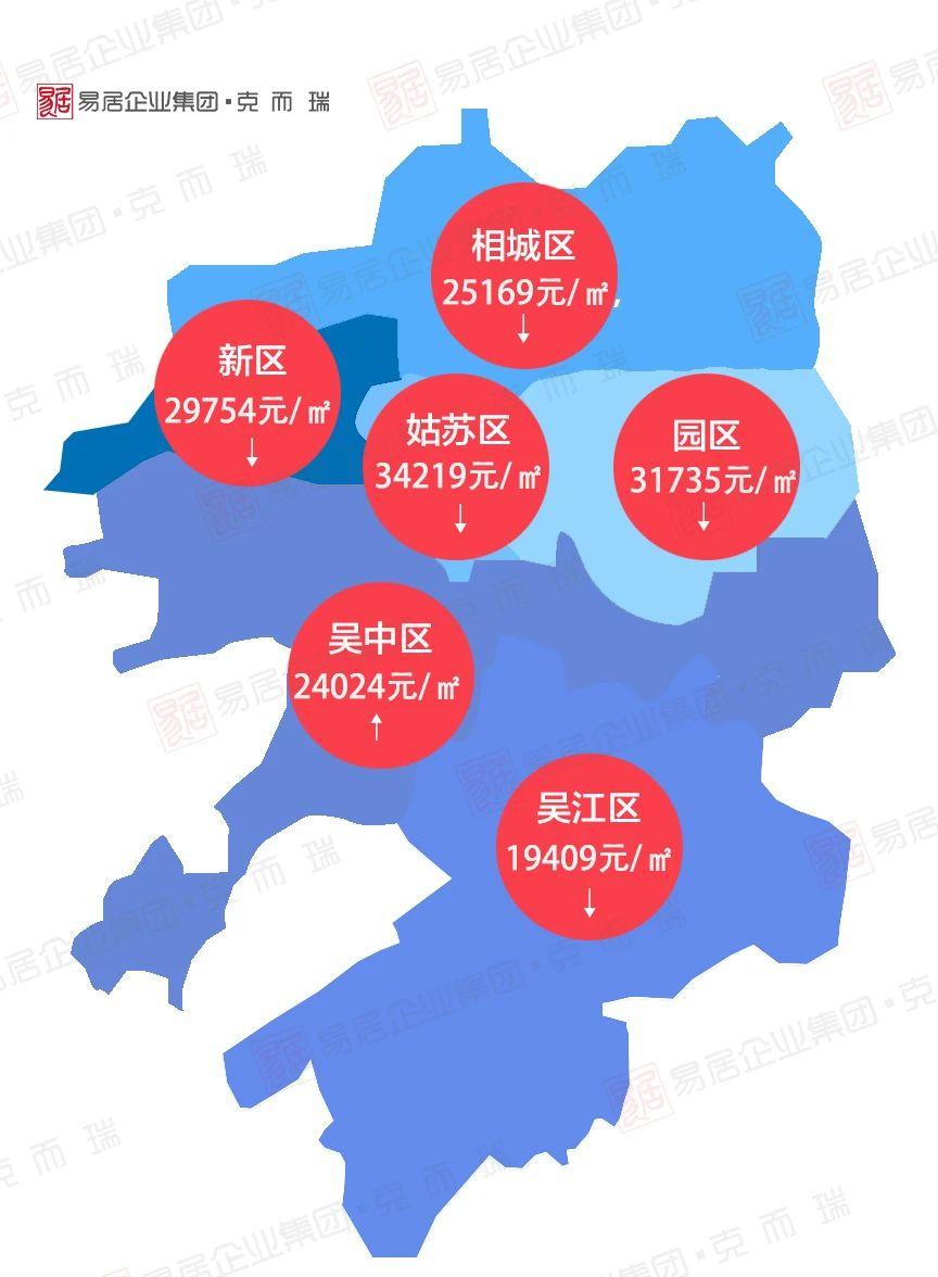 4月苏州市区热销板块房价地图新鲜出炉!这些板块均价看涨!